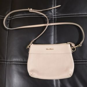 MaxMara cream leather crossbody bag